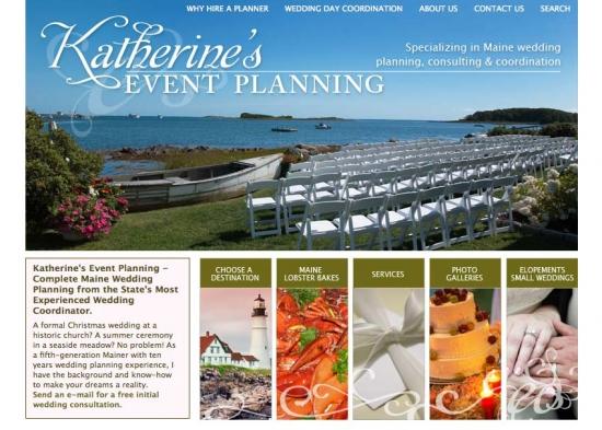Katherine's Event Planning Website redesign