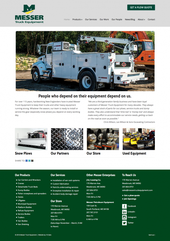 messer truck equipment