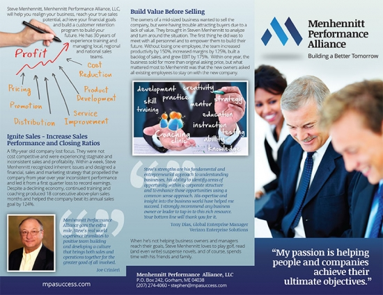Mehhennit Performance Alliance Brochure