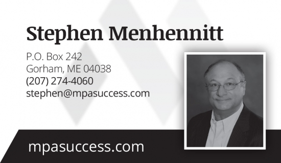 Mehhennit Performance Alliance Business Card back