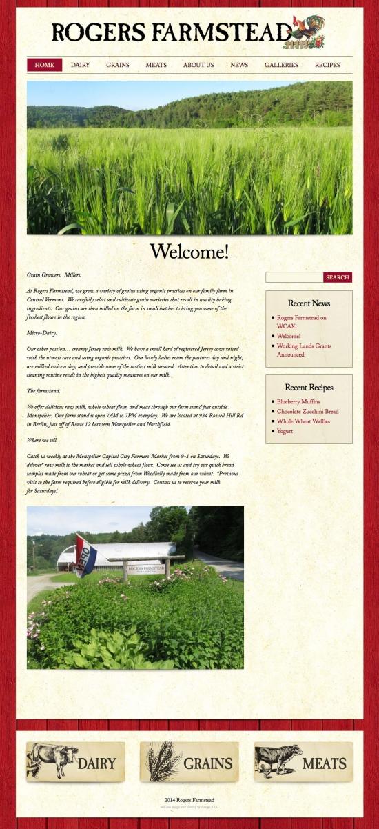 Rodgers Farmstead website design