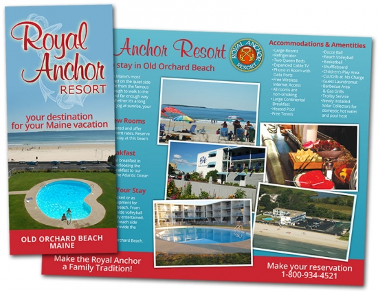 Royal Anchor Resort Brochure design