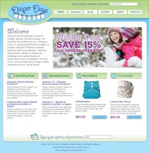 diaper days e-commerce website