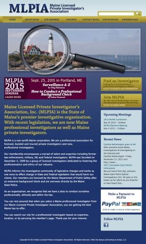 Maine Licensed Private Investigative Association website