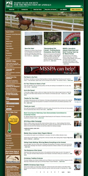 Maine State Society for the Protection of Animals website