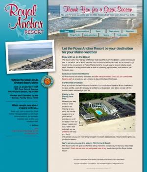 Royal Anchor Resort website