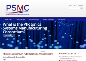 Photonic Systems Manufacturing Consortium responsive website